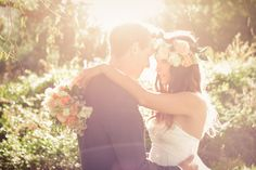 Fun South African Farm Wedding: Lauren  Mike - love the light in this shot!