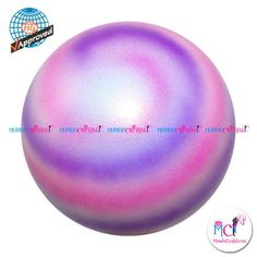#Pelota de Gimnasia #Rítmica Pastorelli planet-violeta-rosa-y-blanco
