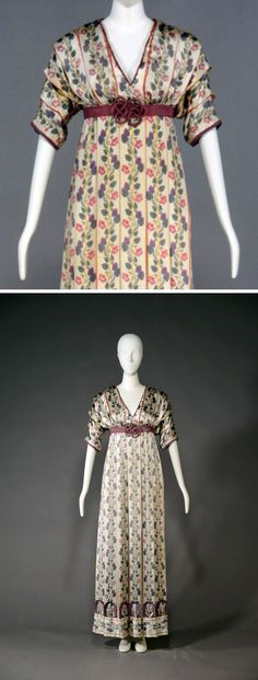 Day dress, Poiret, 1910. Silk. Kobe Fashion Museum via Fashion Headline