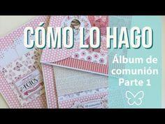 Como lo hago: Album de comunión Parte 1 - YouTube Mini Albums Scrap, Mini Scrapbook Albums, Scrapbook Sketches, Junk Art, Memory Books, Book Crafts, Kids Cards, Craft Videos, Scrapbooks