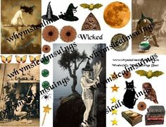 Wonderfully Witchy Collage Sheet