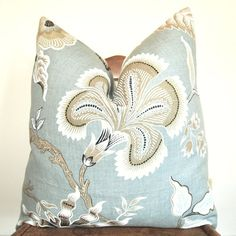 floral linen pillow fabric | pillow throw pillow celerie kemble for schumacher hot house flower 22 ...