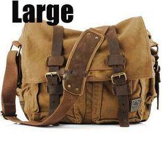 2017 Canvas Leather Crossbody Bag Men Military Army Vintage Messenger Bags  Large Shoulder Bag Casual Travel de4b4b385df00