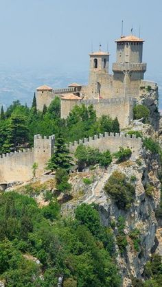 The medieval Fortress of San Marino, or Guaita fortress
