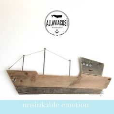 Wooden Ship Art Wooden ocean boat Wall art Home decor Hone and living Nautical decor Moby Dick Wood boat Room decor Pallet design Recycled Pallets, Wood Pallets, Pallet Boards, Wooden Ship, Wooden Art, Diy Pallet Projects, Wood Projects, Ship Craft, Pallet Designs
