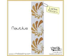 Loom Pattern: Nautilus bracelet  INSTANT DOWNLOAD pdf  New