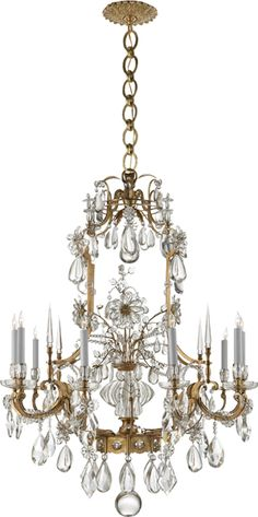 Vestry Chandelier, Antiqued Brass/Clear Crystal - Visual Comfort & Co. Luxury Chandelier, Antique Chandelier, Contemporary Chandelier, Luxury Lighting, Chandelier Shades, Ceiling Lamp, Chandelier Lighting, Crystal Chandeliers, Chandelier Ideas