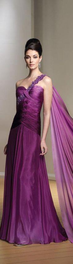 @roressclothes clothing ideas   #women fashion purple maxi dress Mon Cheri Haute Couture 2013
