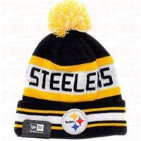 267bff210 Pittsburgh Steelers Team Colors The Jake 3 Beanie With Pom New Era Cap