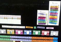 Un affichage pour le rituel de la date Grande Section, Petite Section, Kindergarten Calendar, French Classroom, Home Management Binder, Ms Gs, Dating, Activities, Education