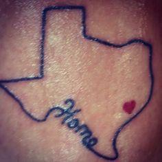 Cute Texas tattoo(: