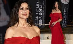 Monica Bellucci, 53, sizzles in red dress in Spain