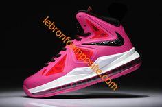 Womens Lebron X (10) GS Fireberry