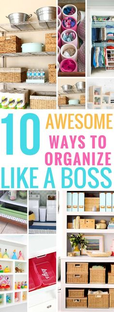 Let the Pros show you how to declutter and organize your home. Be inspired to clean your house like boss.