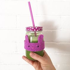 Today I'm craving the green juice after an intense 4 day choc fest!! I adapted the pattern in this month's @luckydipclub DIY to make myself a cute smoothie cosy. by teaandcrafting