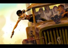 Furiosa from Mad Max Fury Road by Celine Dahyeu Kim for Sketch Dailies