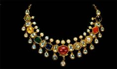 Z Fashion Trend: AMAZING NAVRATNA NECKLACE WITH RUBY IN CENTRE