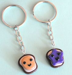 Handmade Peanut Butter and Jelly Best Friend Key Chains ... Price: $34.99 ... Where to Buy: Alwaysfits.com ... ♥ the #giftdetectives