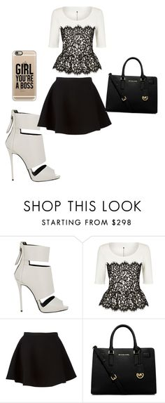"""Untitled #124"" by bronabae ❤ liked on Polyvore featuring Giuseppe Zanotti, St. John, Neil Barrett, MICHAEL Michael Kors and Casetify"