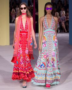 Perfect for a Summer party, the V Neck Chimera Dress featured on the runway at LFW
