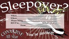free printable boys sleepover invitations