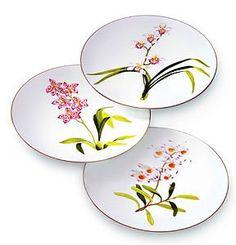 Hermes Jardin des Orchidees American Dinner Plates