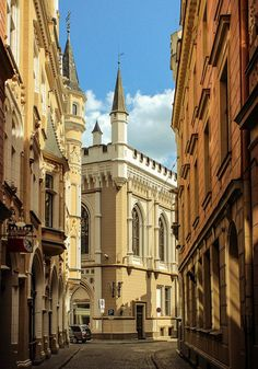 The magical small streets of Old Town Riga.