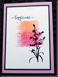 Acrylic block printing - for these I just used felt tip pens in two different colours, then spritzed them with water and printed onto white card.