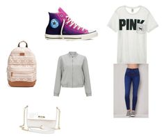 """Back To School"" by lildae on Polyvore featuring Victoria's Secret, PacSun, Converse, Miss Selfridge and Rip Curl"