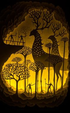 Deepti Nair and Harikrishnan Panicker, two Colorado-based artists who create stunning works of illuminated fairytale paper art