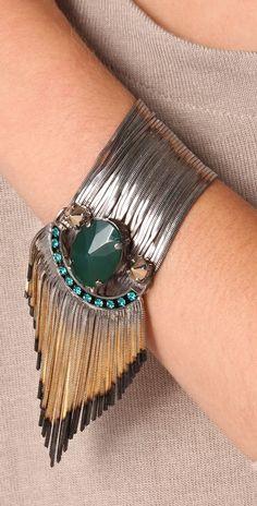 Iosselliani jewelery=Silver #Jade waterfall #Bracelet..