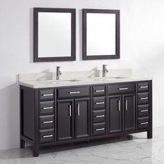 Bauhaus Bath Caledonia 75 in. Double Bathroom Vanity Set with Mirrors - CA75ESP-SSC, Durable