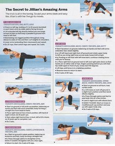 Jillian Michaels Amazing Arms Workout, print it and do it on the road or at home