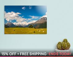 Discover «Beautiful Pastoral Alpine Landscape in New Zealand», Numbered Edition Acrylic Glass Print by Daniela Constantinescu - From $85 - Curioos