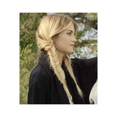 Long Braided Pigtails ❤ liked on Polyvore featuring hair, hairstyles and people