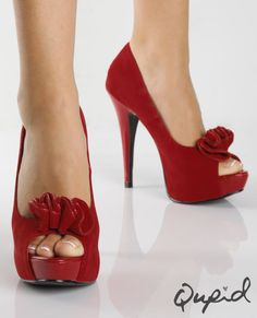 Very similar to the shoes I bought for my wedding : ) except not as tall and not the same material--my material is more of a satin!!