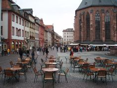 Heidelberg (Hauptstrasse by the Church of the Holy Spirit)