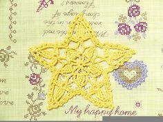 もう少しで七夕なので、星を編んでみました。 最近、雨続きですが七夕には晴れて欲しいですよね^^  編み図です↓  上級者向けのドイリーです。 ...