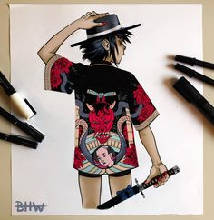I found this amazing looking kimono robe online and I just had to draw Noodle in it. Gorillaz Noodle, Gorillaz Fan Art, Different Art Styles, Great Bands, Most Beautiful Pictures, Fashion Art, Noodles, Cool Art, Style Me