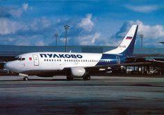 Pulkovo Airlines Boeing B737 Postcard