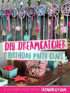 The marvellous Diy Dream Catcher Party Craft Sleepover Party Birthday Inside Party Crafts image below, is part of Party Crafts More! Kids Crafts, Diy Party Crafts, Craft Party, Diy And Crafts, Craft Birthday Party, Slumber Party Crafts, Slumber Party Ideas, Birthday Games, Slumber Party Activities