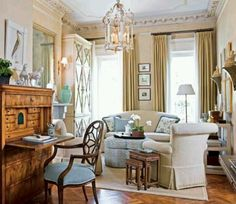 Love everything about this beautiful & charming living room!