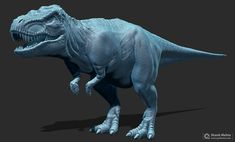 Jurassic Park Classic T-rex WIP  Still thinking of adding more larger scales on the back and tail but the references sometimes conflict with each other.