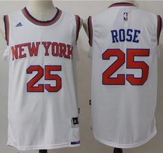 1dad1b2e2  Knicks  25 Derrick  Rose White Stitched  NBAJersey Cycling Clothing