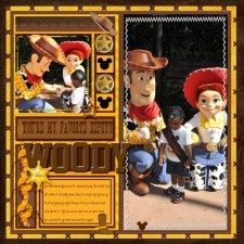 """Template Challenges - MouseScrappers - Disney Scrapbooking Gallery. I love the """"hidden"""" mickeys!"""