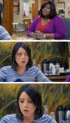 *downton abbey* combining 2 of my favourites Parks And Rec Memes, Parks And Recreation, Parcs And Rec, Donna Meagle, April Ludgate, Parks Department, Aubrey Plaza, Comedy Show, Tv Quotes