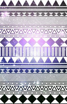 galaxy navajo tribal pattern Art Print
