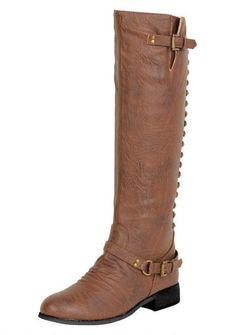 c229fcad63b Anna BD 2523 Womens Grey Faux Suede Fashion Buckle Knee High Tall Boots