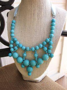 Modern Turquoise Bubble Necklace // Handmade by YellowRoseShoppe, $41.00