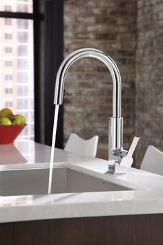 Pantry or Secondary Sink: Moen STo one-handle high arc pulldown kitchen faucet in Chrome Black Kitchen Faucets, Kitchen And Bath, New Kitchen, Kitchen Ideas, Bar Faucets, Bathroom Faucets, Kitchen Faucet Reviews, Pull Out Faucet, Kitchen Handles